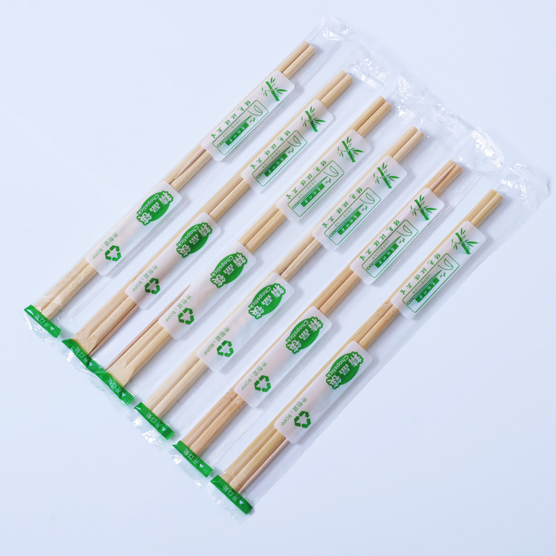 Disposable Bamboo Wooden Chopsticks Hashi Individually Wrapped BE